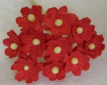 RED CHERRY BLOSSOM Mulberry Paper Flowers